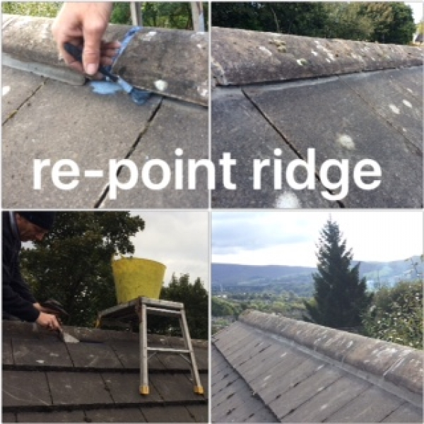 Repoint the roof tiles Tameside