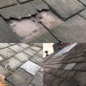 Slate repair roof leak