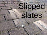 Slipped slates Denton roof
