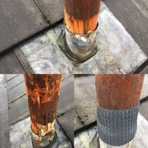 Soil pipe roof seal