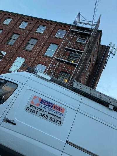 High access roof repairs