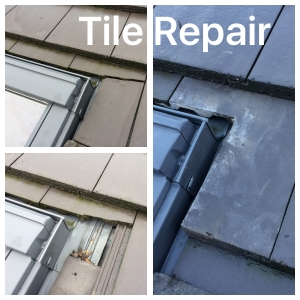 Broken roof tile replace