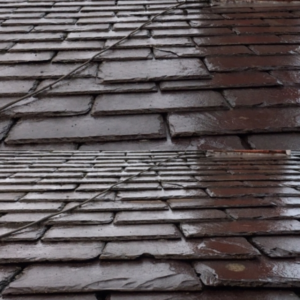Slipped slate repair