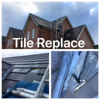 New roof tile repair dry verge