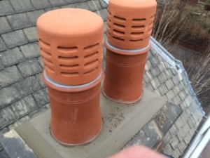 Lower and install new chimney pots