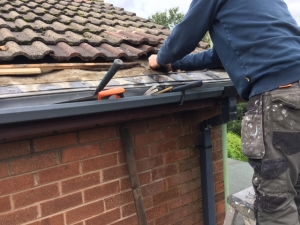 Replace rotten roof lath
